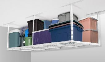 Adjustable Overhead Garage Storage Rack at Big Savings