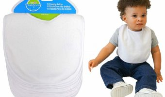Great Deal on 10 Pack Solid Knit Terry Bibs
