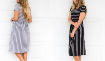 Striped Midi Dresses