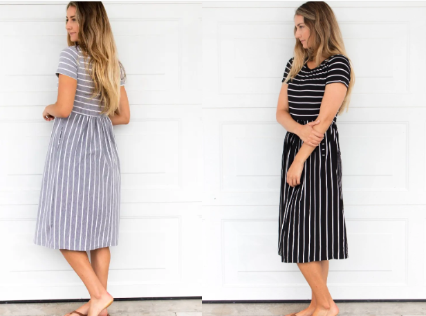 Striped Midi Dresses