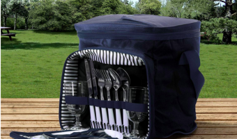 Blue Insulated Picnic Basket at Best Price!