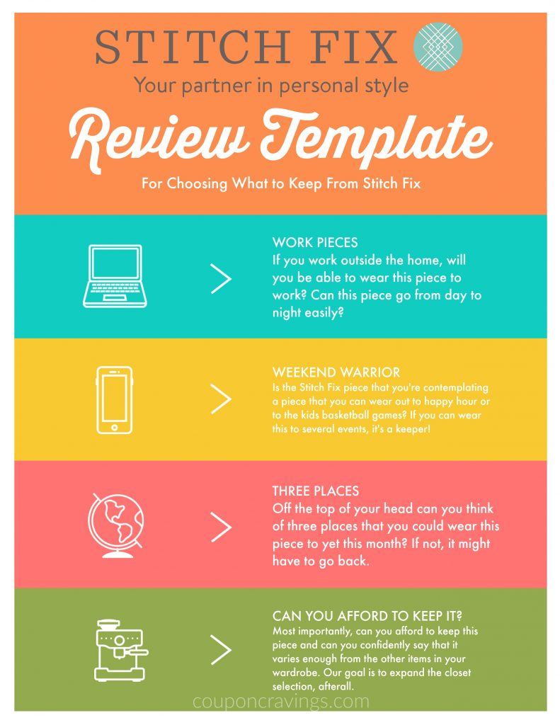 This Stitch Fix template helps you review the clothes in a real way. DO you really need them, or do you just want them?