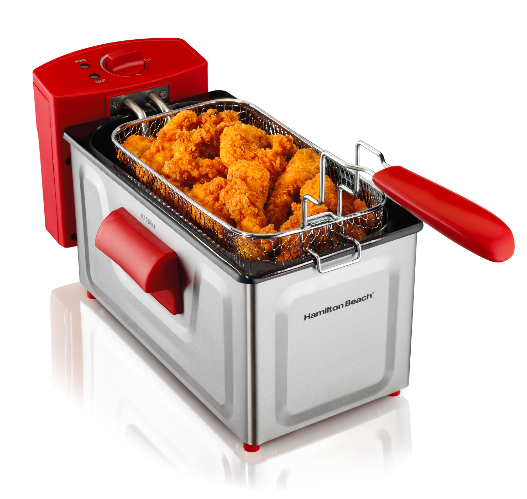 Red 2 Liter Hamilton Beach Deep Fryer