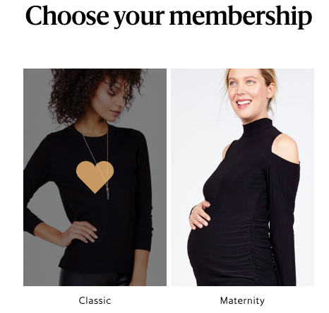 Le Tote maternity or classic choices