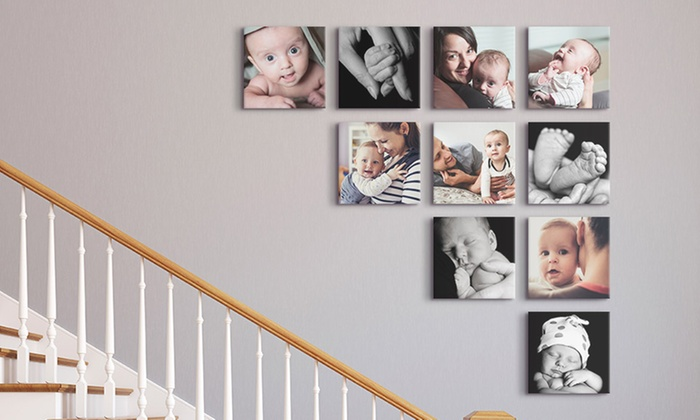 Free Canvases for new moms on staircase