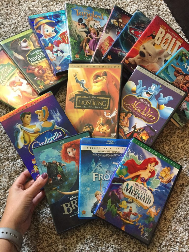 Free baby samples by mail can include Disney movies! I got all these 11 movies!