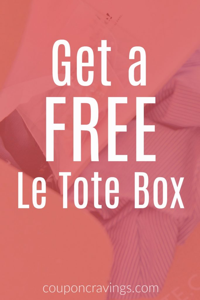 How to get a free Le Tote Box on a peach background