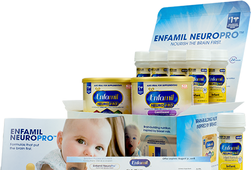 Enfamil rewards gives new moms free formula checks and free formula in packages like this