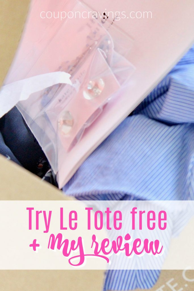 Le Tote box with five items