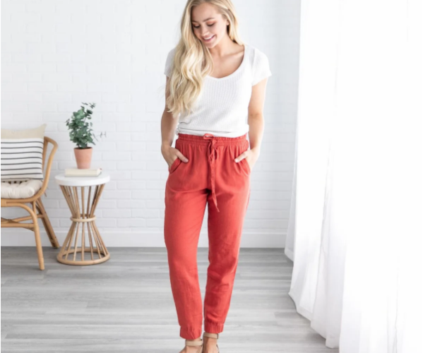 Monterey Linen Pants Ship for $18.99