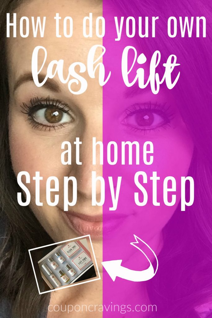 My lash lift at home that I did