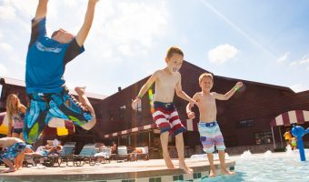 All the things about the Groupon Great Wolf Lodge PA situation starting with boys jumping in the pool