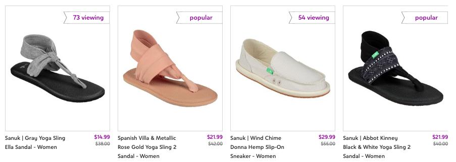 Mens  Sanuk sandals and women's Sanuk sandals as well