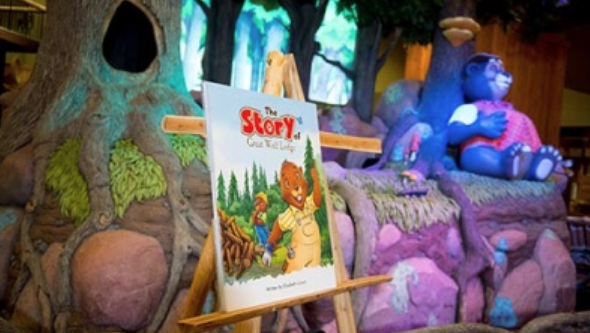 Storytime board for the storytime that is included with your Great Wolf Lodge Groupon