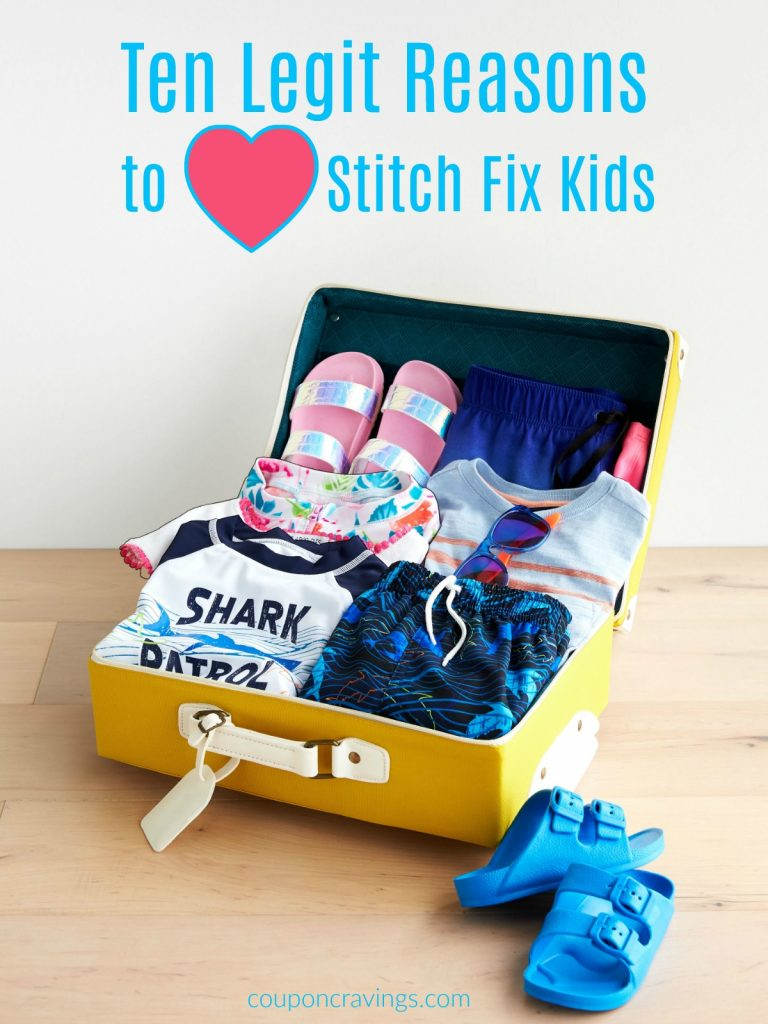 kids stitch fix clothes in a suitcase
