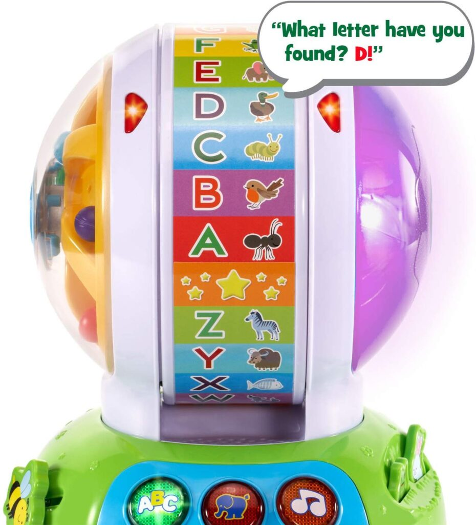 electronic educational toys for 2 year old boy spinning alphabet zoo