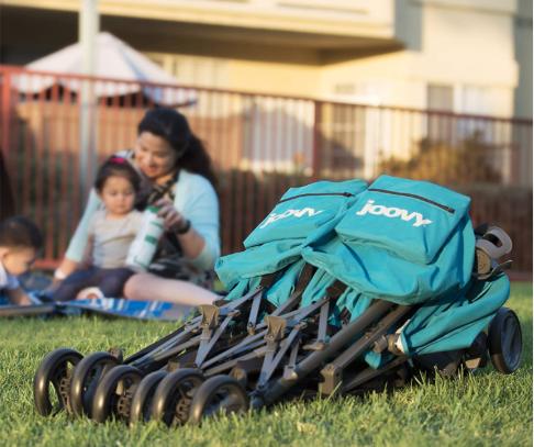 best double stroller storage
