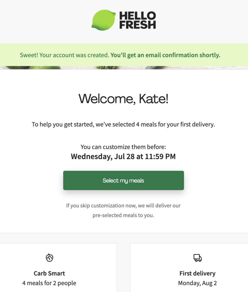 trying hello fresh family friendly meals for the first time