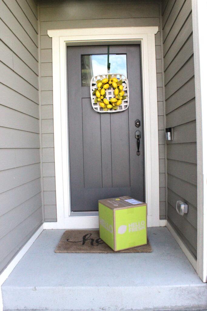 HelloFresh box at my door