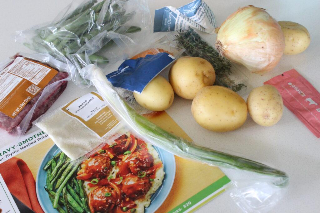 ingredients for hello fresh dinner